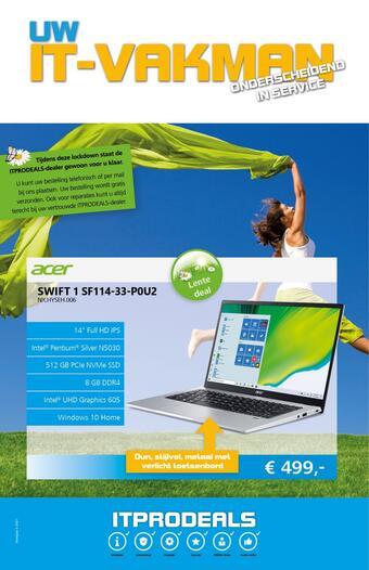 De ICT Vakman reclame folder (geldig t/m 28-03)
