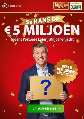 Nationale Postcode Loterij reclame folder (geldig t/m 04-03)