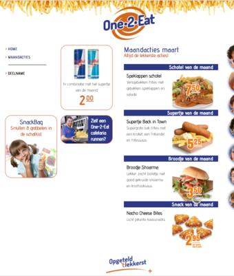 One 2 Eat reclame folder (geldig t/m 31-03)
