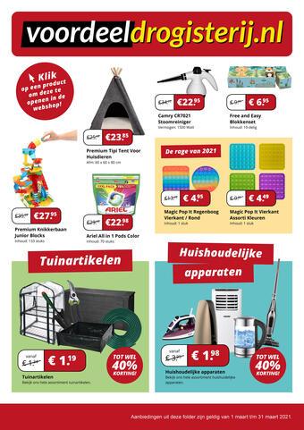 Voordeeldrogisterij reclame folder (geldig t/m 31-03)