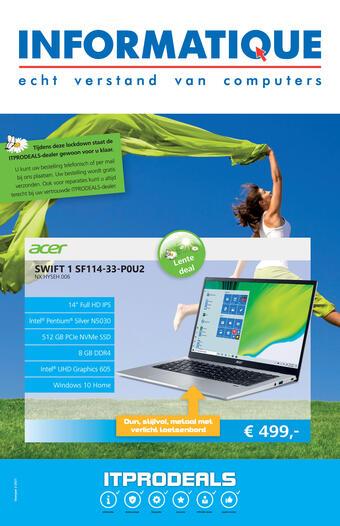 Informatique reclame folder (geldig t/m 31-03)
