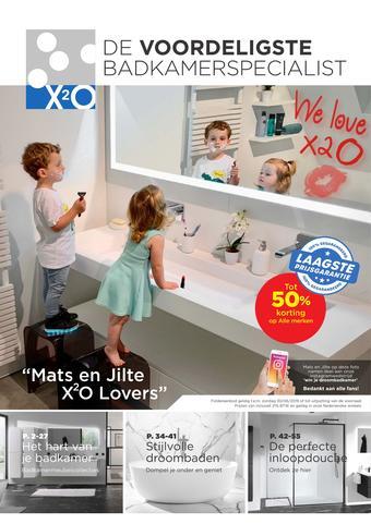 X2O reclame folder (geldig t/m 30-06)