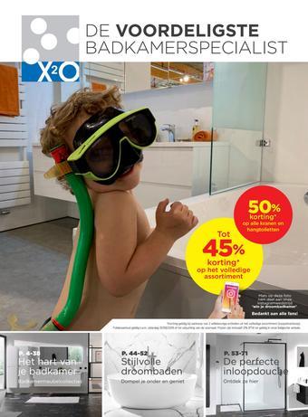 X2O reclame folder (geldig t/m 31-08)