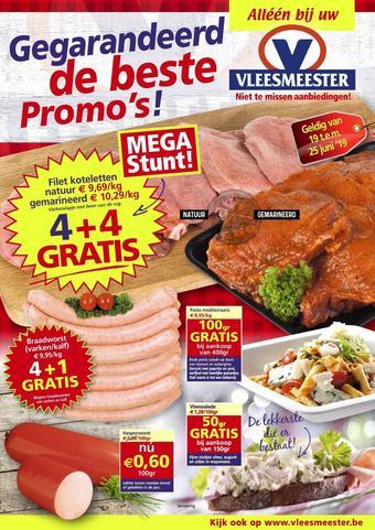 Vleesmeester reclame folder (geldig t/m 25-06)