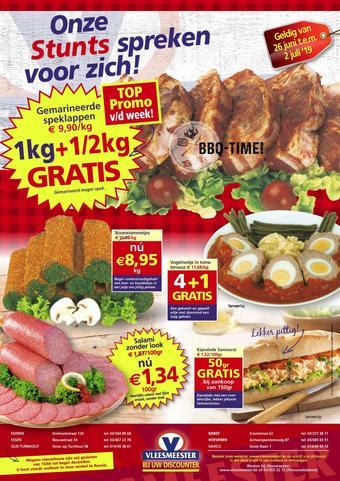 Vleesmeester reclame folder (geldig t/m 02-07)