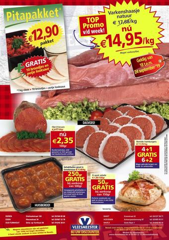Vleesmeester reclame folder (geldig t/m 24-09)