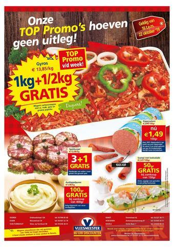 Vleesmeester reclame folder (geldig t/m 22-10)