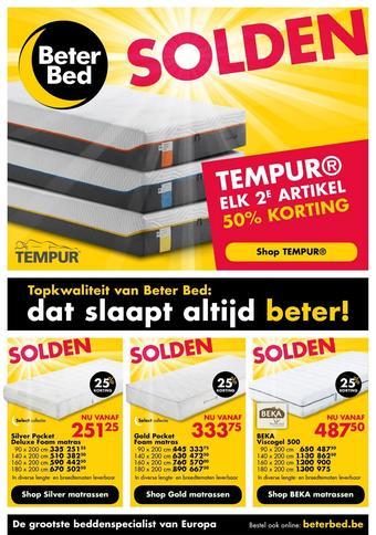 Beter Bed reclame folder (geldig t/m 30-11)