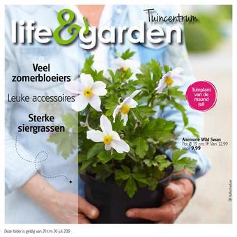 Life & Garden reclame folder (geldig t/m 30-07)