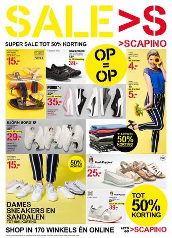 Scapino reclame folder (geldig t/m 30-06)