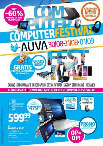 AUVA reclame folder (geldig t/m 01-09)