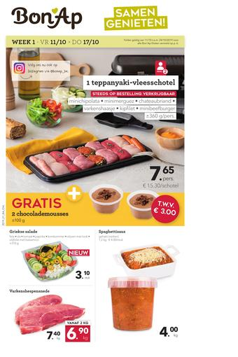 Bon Ap reclame folder (geldig t/m 24-10)
