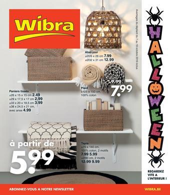 Wibra catalogue publicitaire (valable jusqu'au 19-10)
