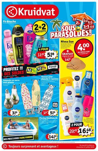 Kruidvat catalogue publicitaire (valable jusqu'au 21-07)