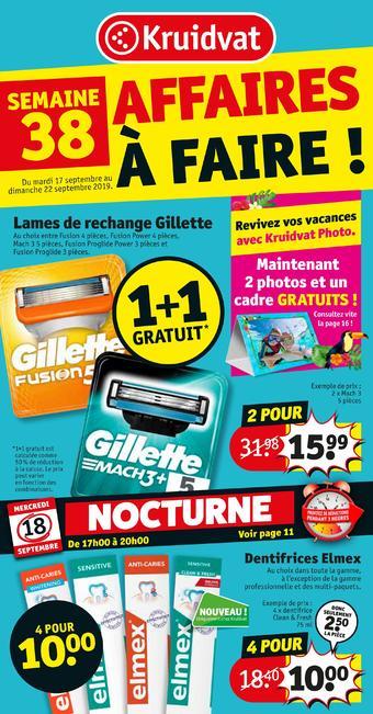 Kruidvat catalogue publicitaire (valable jusqu'au 22-09)