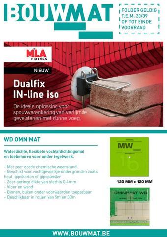 Bouwmat reclame folder (geldig t/m 30-07)