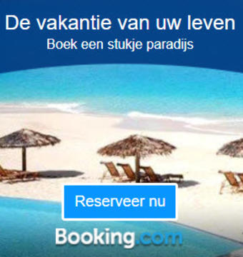 Booking.com reclame folder (geldig t/m 31-08)