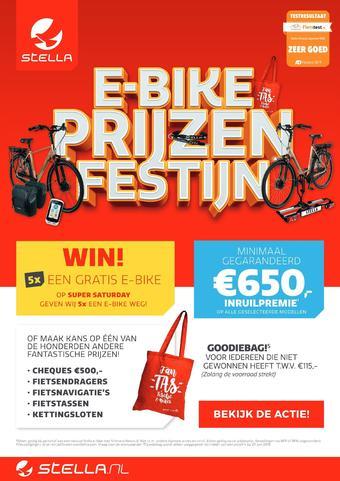 Stella fietsen reclame folder (geldig t/m 29-06)