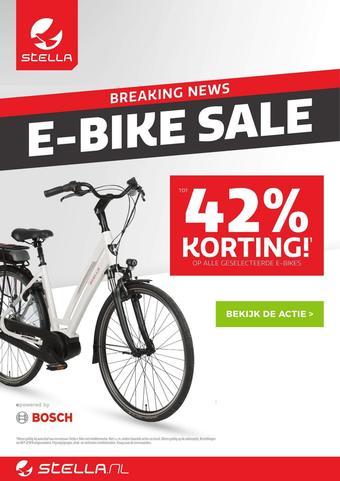 Stella fietsen reclame folder (geldig t/m 24-08)
