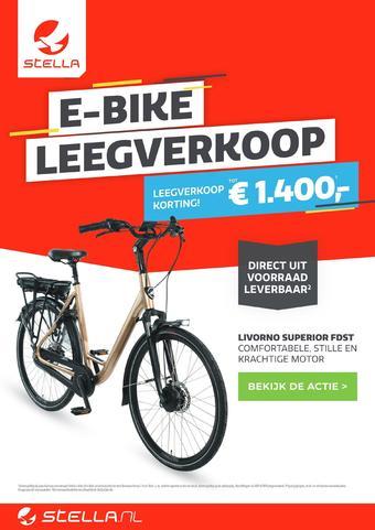 Stella fietsen reclame folder (geldig t/m 19-10)