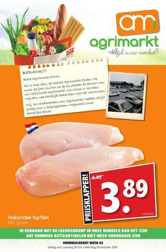 Agrimarkt reclame folder (geldig t/m 26-10)