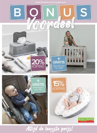 Baby-Dump reclame folder (geldig t/m 27-10)