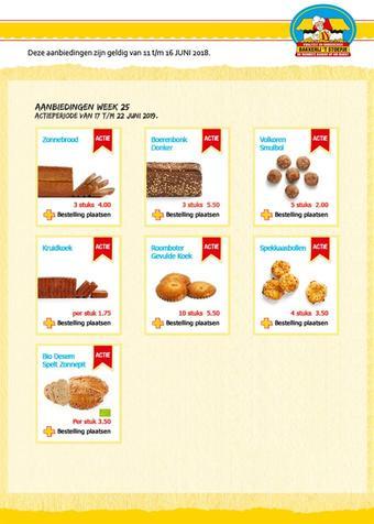 Bakkerij 't Stoepje reclame folder (geldig t/m 23-06)