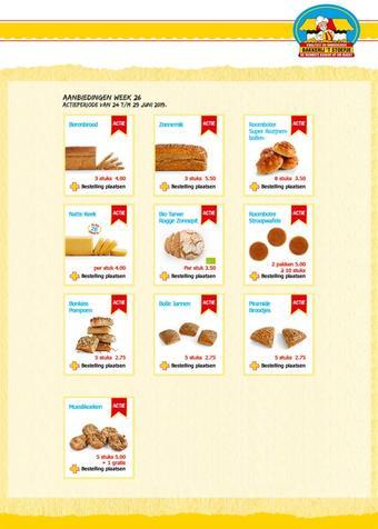 Bakkerij 't Stoepje reclame folder (geldig t/m 29-06)