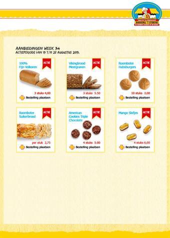 Bakkerij 't Stoepje reclame folder (geldig t/m 25-08)