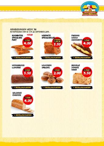 Bakkerij 't Stoepje reclame folder (geldig t/m 22-09)