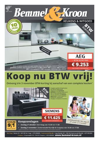 Bemmel & Kroon reclame folder (geldig t/m 27-10)