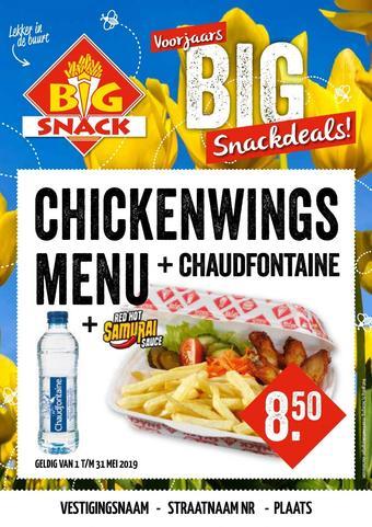 Big Snack reclame folder (geldig t/m 31-05)