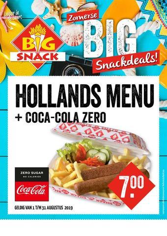 Big Snack reclame folder (geldig t/m 31-08)