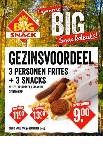 Big Snack reclame folder (geldig t/m 31-10)
