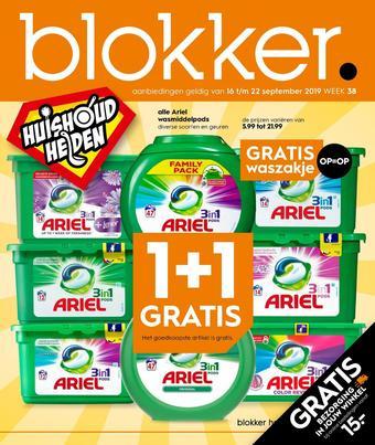 Blokker reclame folder (geldig t/m 22-09)