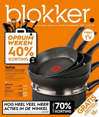 Blokker reclame folder (geldig t/m 29-09)