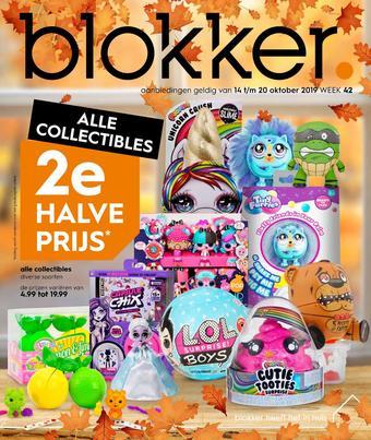 Blokker reclame folder (geldig t/m 20-10)