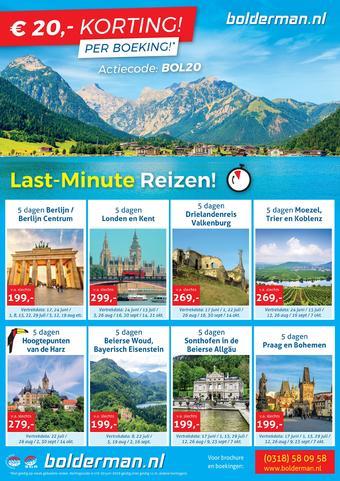 Bolderman Excursiereizen reclame folder (geldig t/m 30-06)