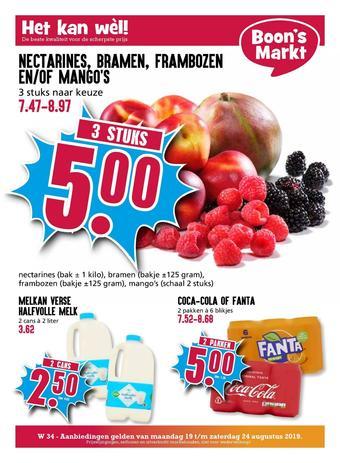 Boon`s Markt reclame folder (geldig t/m 24-08)