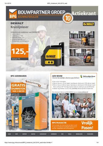 BPG Bouwpartner Groep reclame folder (geldig t/m 13-06)