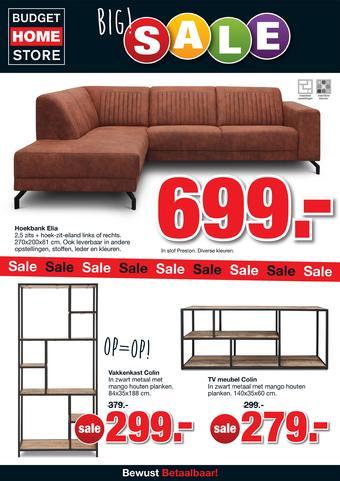 Budget Home Store reclame folder (geldig t/m 01-09)