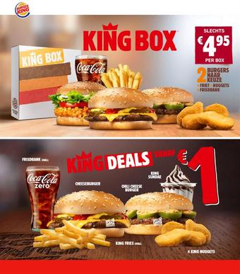 Burger King reclame folder (geldig t/m 07-10)