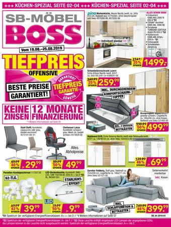 Möbel Boss Prospekt (bis einschl. 25-08)