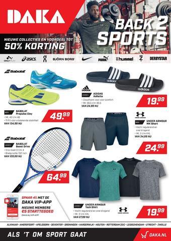 Daka Sport reclame folder (geldig t/m 08-09)