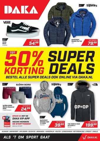 Daka Sport reclame folder (geldig t/m 03-11)
