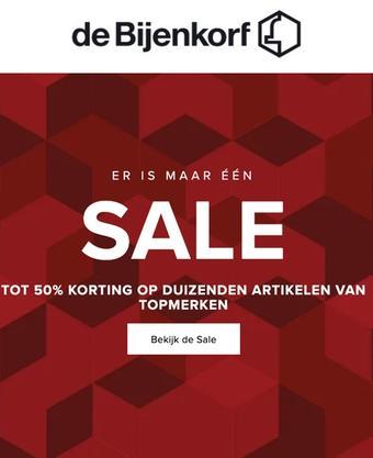 de Bijenkorf reclame folder (geldig t/m 25-08)
