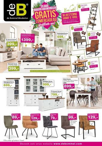 De Bommel Meubelen reclame folder (geldig t/m 31-08)