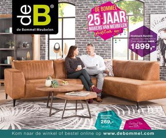 De Bommel Meubelen reclame folder (geldig t/m 10-11)