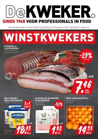 De Kweker reclame folder (geldig t/m 31-08)