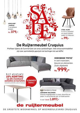 De Ruijtermeubel reclame folder (geldig t/m 01-09)